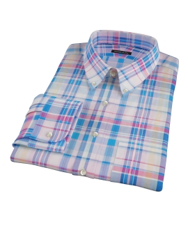 Pink Blue Red Madras Tailor Made Shirt