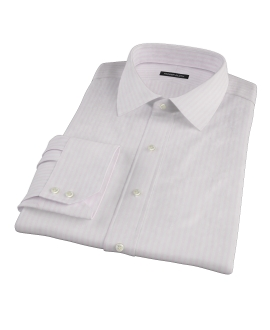 Pink University Stripe Heavy Oxford Men's Dress Shirt