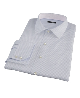 Grey Grant Stripe Fitted Shirt