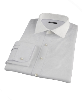 Bowery Light Grey Pinpoint Fitted Shirt