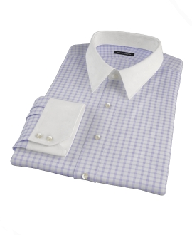 Thomas Mason Lavender Grid Fitted Dress Shirt