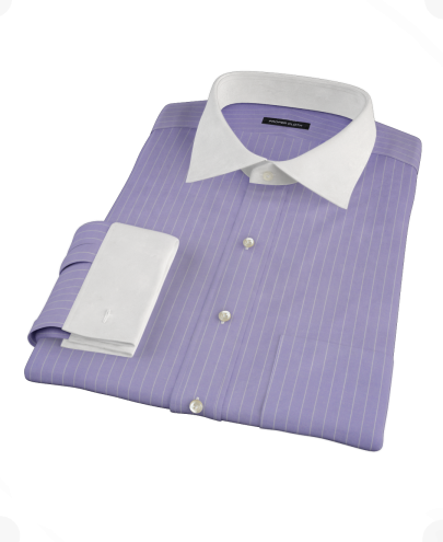 White Shirt Dress on Purple White Pinstripe Men S Dress Shirt By Proper Cloth