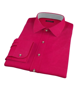 Crimson Red Heavy Oxford Fitted Shirt