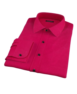 Crimson Red Heavy Oxford Dress Shirt