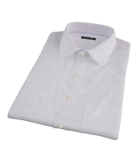 Purple Thin Stripe Heavy Oxford Short Sleeve Shirt