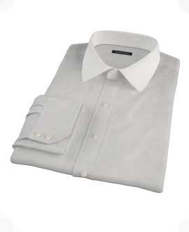 Light Gray End-on-End Dress Shirt