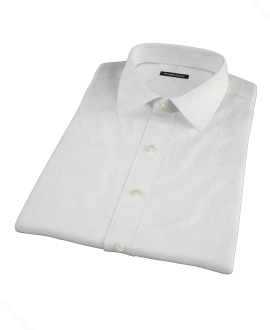 White Heavy Oxford Cloth Short Sleeve Shirt