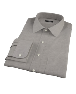 Black Heavy Oxford Cloth Tailor Made Shirt