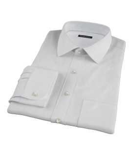 Canclini White Imperial Basketweave Custom Dress Shirt