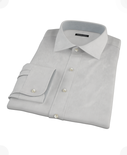 Light Gray End-on-End Men's Dress Shirt