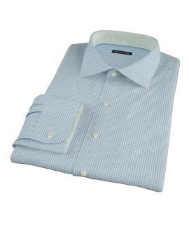 Aqua Davis Check Men's Dress Shirt
