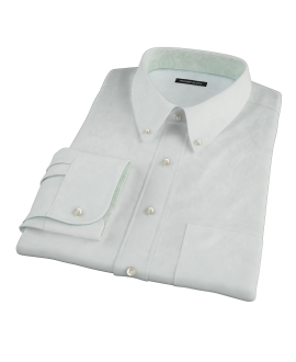 Bowery Mint Green Pinpoint Fitted Dress Shirt