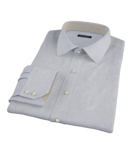 Blue Green Peached Tattersall Custom Dress Shirt