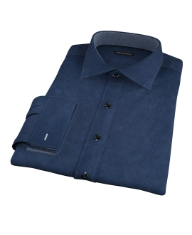Dark Navy Heavy Oxford Fitted Shirt
