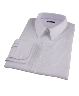 Canclini Lavender Imperial Twill Fitted Dress Shirt