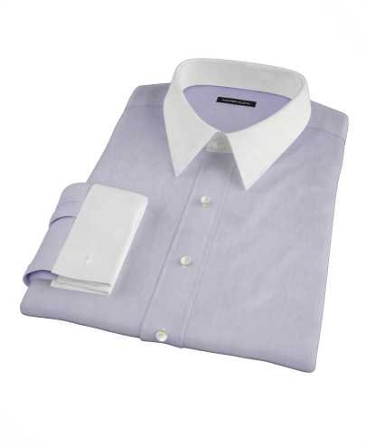 Albini Purple Superfine Stripe Custom Dress Shirt 
