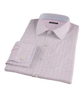 Canclini Red Multi Grid Custom Made Shirt