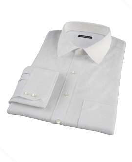Canclini White Imperial Basketweave Tailor Made Shirt