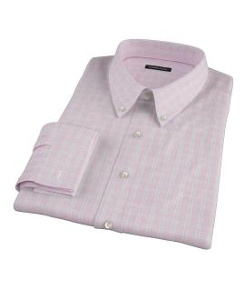Canclini Red Multi Grid Men's Dress Shirt