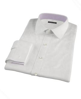 Canclini White Imperial Twill Men's Dress Shirt