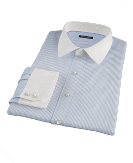 Thomas Mason Light Blue Stripe Dress Shirt