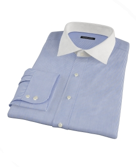 Blue Grant Stripe Fitted Dress Shirt