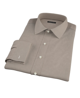 Olive Chino Fitted Dress Shirt