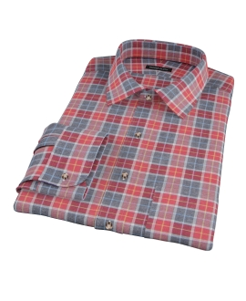 Rust Dock Street Flannel Custom Dress Shirt