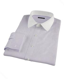 Thomas Mason Lavender Twill Fitted Dress Shirt