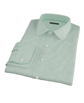 Light Green Heavy Oxford Cloth Fitted Shirt