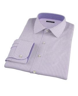 Canclini Stetch Purple Bengal Stripe Tailor Made Shirt