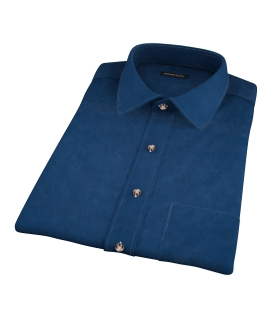 Thomas Mason Navy Luxury Broadcloth Short Sleeve Shirt