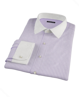 Canclini Stetch Purple Bengal Stripe Fitted Shirt