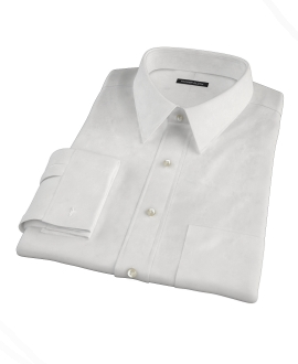 White 100s Pinpoint Men's Dress Shirt