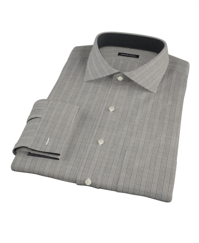 Black Glen Plaid Custom Dress Shirt