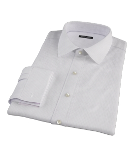 Wrinkle Resistant Lavender Multi Stripe Fitted Dress Shirt