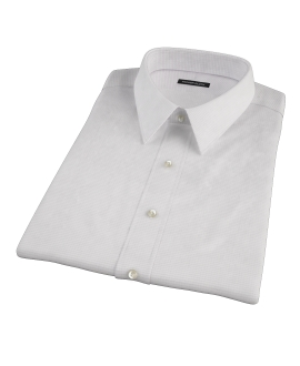 140s Lavender Wrinkle Resistant Grid Short Sleeve Shirt