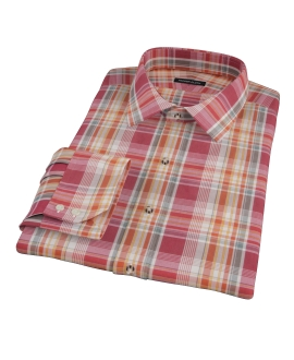 Canclini 120s Red Yellow Madras Custom Dress Shirt