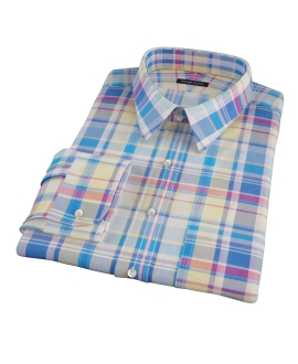 Yellow Blue Red Madras Tailor Made Shirt