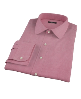Red Heavy Oxford Cloth Custom Dress Shirt