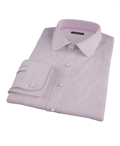 Viola End-on-End Stripe Men's Dress Shirt