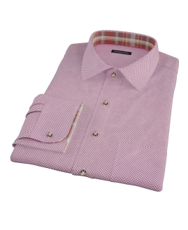 Canclini Maroon Flower Print Fitted Dress Shirt