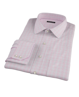 Canclini Red Multi Grid Dress Shirt