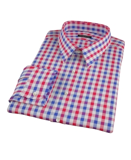 Red and Blue Large Gingham Tailor Made Shirt