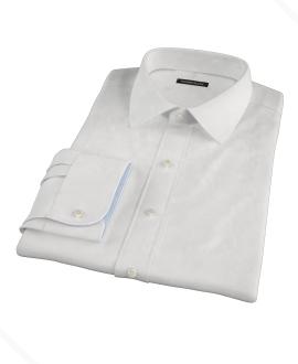 Thomas Mason Luxury Broadcloth Fitted Dress Shirt