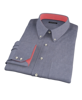 Navy Chambray Men's Dress Shirt