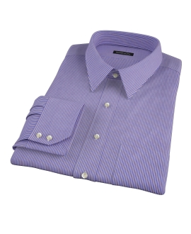 Canclini Blue and Red Stripe Men's Dress Shirt