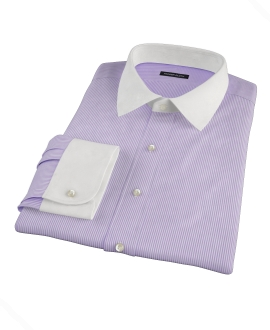 Lavender Grant Stipe Men's Dress Shirt