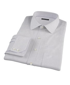 Canclini Tan Gassato Stripe Fitted Shirt