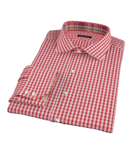 Union Red Gingham Men's Dress Shirt